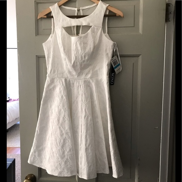 5bb29f6e5 XOXO Dresses | Graduationbridal Shower White Fit Flare Jr 56 | Poshmark